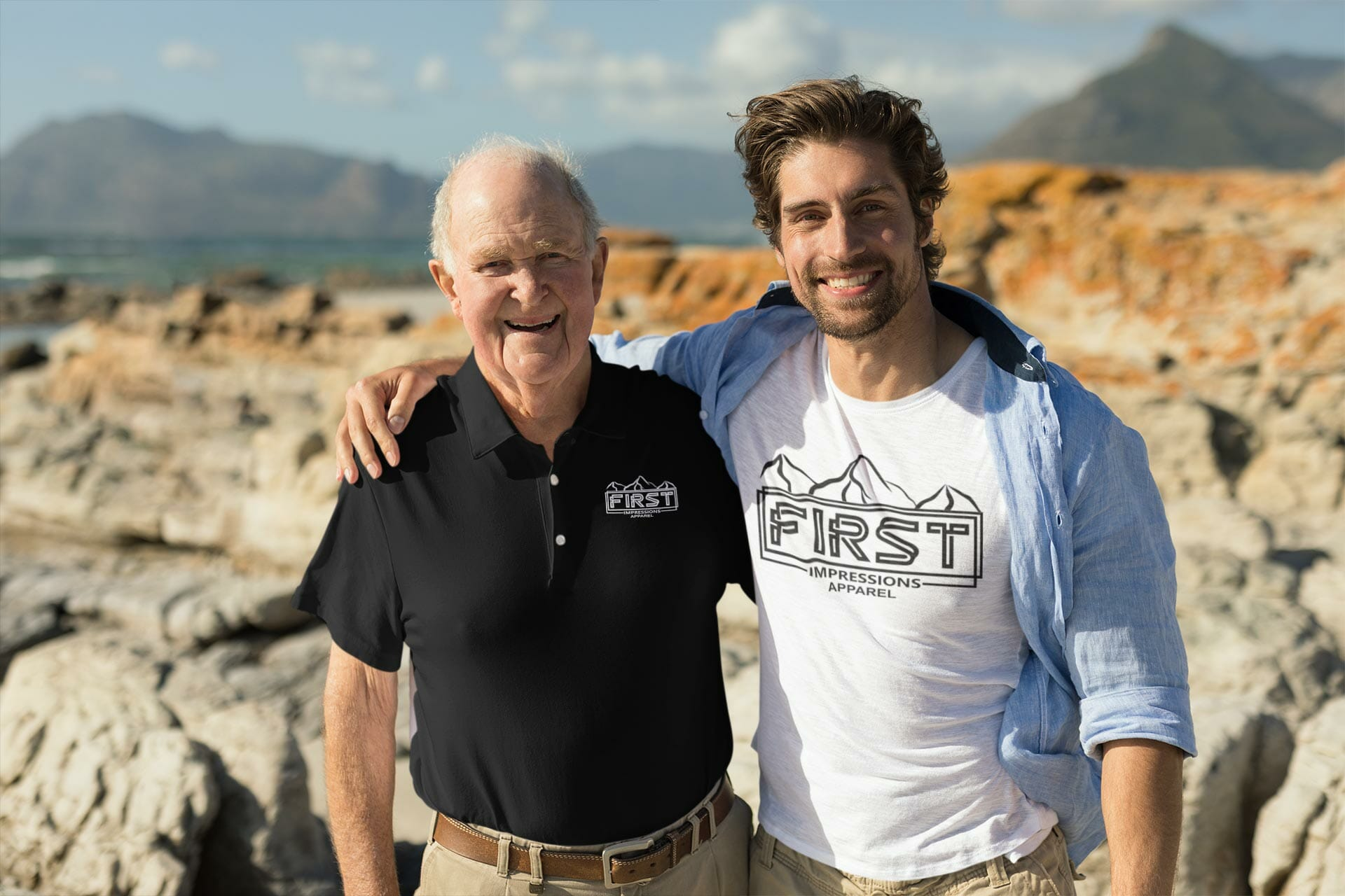 polo-shirt-and-t-shirt-mockup-of-father-and-son-at-the-beach-44258-r-el2